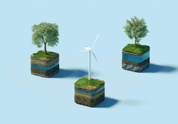 Покрывала, кирпичи и известковый раствор ESG интеграции